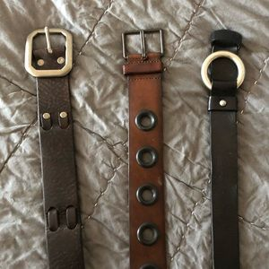 Lucky Brand leather belts (3)